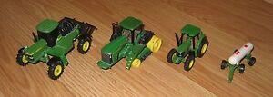 4 Piece ERTL John Deere Toy Tractors Set (4710, 6220, 3096Q00, & 9420T) **READ**