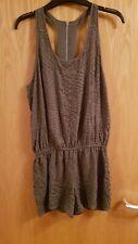 Ladies size 10 River Island Grey Beaded Playsuit Jumpsuit Shorts Summer Holiday