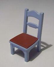 PLAYMOBIL (J209) EPOQUE 1900 - Chaise Bleue Assise Marron pour Cuisine 5322