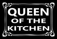Queen Of The Kitchen Panneau Métallique Plaque Voûté Métal en Étain 20 X 30 CM