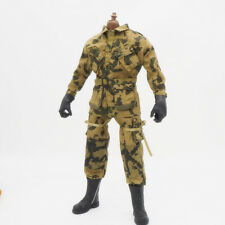 1/6 Scale Uniforms Coveralls Suit Woodland Camo WWII 82nd Airborne Normandy
