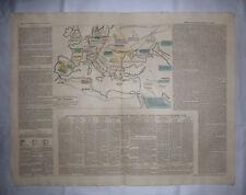 FLÜCHTLINGE Kupferstich EUROPA Karte v 1828 Völkerwanderung Alanen Goten Hunnen