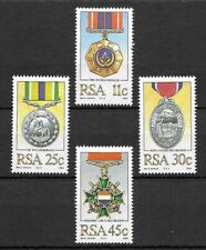 South Africa 1984 Military Decorations MNH set S.G. 572-575