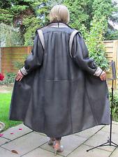 WOMEN XXL XXXL Shearling Lambskin Sheepskin Fur Leather Coat Jacket  D3902