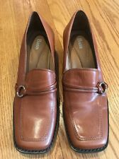 BASS Wedges Pumps Loafers LAVERNE Leather High Heels Women Shoes Pumps Sz 7.5 #