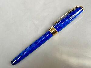 Parker Sonnet NEU Laque blue blau marmoriert Füllfederhalter 18k 750 in F Selten