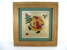 Vintage Punched Tin Picture/Wall Hanging Framed I �� Christmas 11 3/4 X 11 3/4