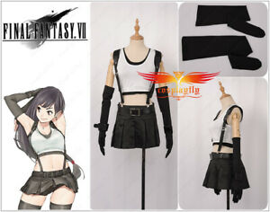 Final Fantasy VII Tifa Lockhart Sexy Skirt Dress Girls Cosplay Costume Full Set