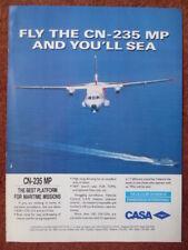 1993 PUB AVION CASA CN-235 MP PERSUADER MARITIME PATROL AIRCRAFT ORIGINAL AD
