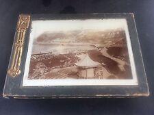 Art Nouveau Antique Box North Bay Scarborough Castle Real Photo Photograph c1890