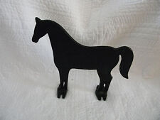 "Black Cast Iron Horse Doorstop, Excellent Condition, Weighs over 2 lbs. 8 3/4"""