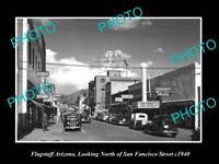 OLD LARGE HISTORIC PHOTO OF FLAGSTAFF ARIZONA, VIEW OF SAN FANCISCO St c1940