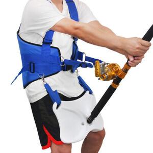 Adjustable Fishing Waist Gimbal Fighting Belt Harness Padded Jigging Rod Holder