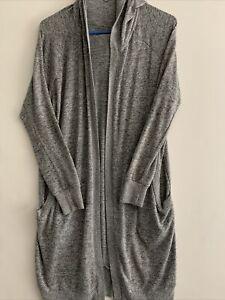 Women's Silence & Noise Gray Hooded Long Cardigan Sweater -Size M
