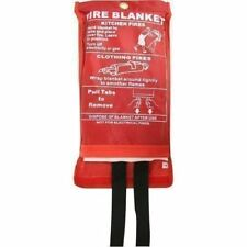 Fire Blanket 1m X 1m Quality Quick Release Large Fully CE Approved Red Case