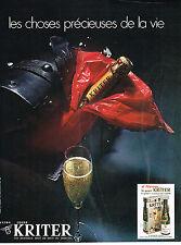 PUBLICITE  1971   KRITER   vin mousseux extra léger