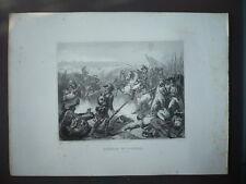 GRAVURE 1880  BATAILLE DE FLEURUS 26 JUIN 1794