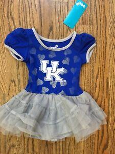 New NWT Kentucky Wildcats Tutu Dress Girls Infant Size 12M 12 Months Blue Gray