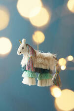 Anthropologie Unicorn Majestic Tassels Ornament Fringe Christmas NWT Sold Out