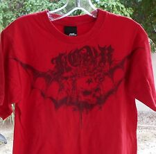 "RED SKULLS GRAPHIC TEE No Fear Mens SIZE SMALL 34"" CHEST"