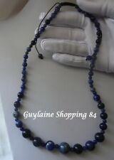 🌺 Superbe Collier artisanal lien ajustable pierre Sodalite naturelle