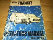 Ford Transit Operators Manual Petrol & Diesel Mark 1 Owners Handbook