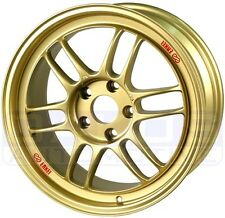 "ENKEI RPF1 Wheels 17x8"" 5x114.3 45mm Offset STi Civic GOLD Rims 379-780-6545GG"