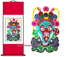 Chinese Wall Decor Chinese Wall Scroll - Chinese Paper Cuts - Monkey King