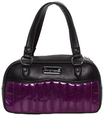 Sourpuss Sabrina Black & Purple Purse Retro Pinup Rockabilly Handbag