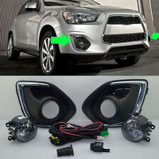 2*For Mitsubishi Outlander Sport 2013-15 Car Front Bumper Fog Driving Light Lamp