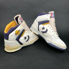 Vintage 80s Converse All Stars LA Lakers High Top Sneakers Purple Gold Mens 7