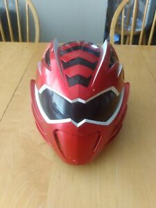 2008 Bandai JUNGLE FURY Power Rangers MEGA MISSION Red Ranger Helmet w/batteries