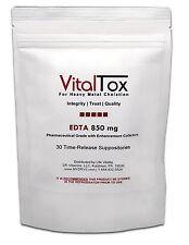 VitalTox EDTA Chelation, Metal Detoxification, w Antioxidants, 30 Suppositories
