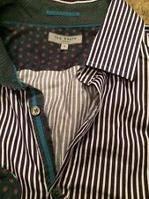 166e291aef02c Stylish Ted Baker purple white striped shirt in new condition