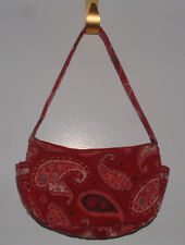 Vera Bradly Red Swirl HandBag /Shoulder Zipper Closure & 4 Pockets Made In U.S.A