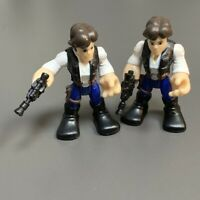 2PCS Playskool Star Wars Galactic Heroes Han Solo With Gun 2.5'' Action Figures