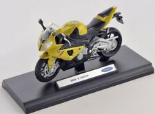 BLITZ VERSAND BMW S1000RR gelb metallic / yellow Welly Motorrad Modell 1:18 NEU