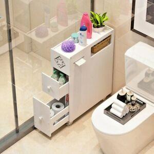 Bathroom Toilet Storage Cabinet Bedside Standing Rack Cupboard Organizer Holder