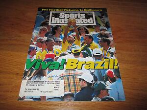VIVA! Brazil! Sports Illustrated 7/25/94 Romário WORLD CUP