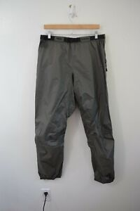 Simms Large Gore Tex Pants Paclite Side Zip Lightweight Fishing Belted Shell