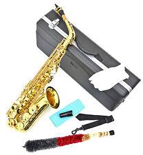 Alt Saxophon in Gold Lack Alto Saxofon Altsaxophon mit Koffer und Zubehör  NEU