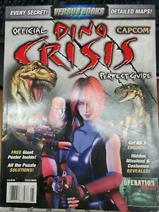 Dino Crisis Official Strategy Guide NEW includes poster