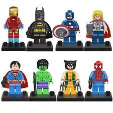 8 Sets Super Heroes Avengers Mini Figures Minifigs Iron man hulk Fit For Lego