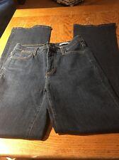 NYDJ Size 4/ 33 Long Dark Blue Denim Lift Tuck Boot Cut Jeans Euc