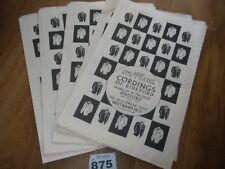 5 VINTAGE BAGS CORDINGS OF BIDEFORD WESTWARD HO !