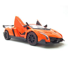 1 14 Scale Orange RC Car for Kids Remote Control Sport Vehicle Auto Doors Open