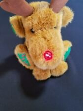 Vintage 1990 Fairview Rudolph Reindeer Tickle My Toes Lights Up Musical Works!