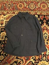 USAF Vintage A-1A Flying Shirt Heavy, S-6282 Large100% Wool 1950's Airforce Blue