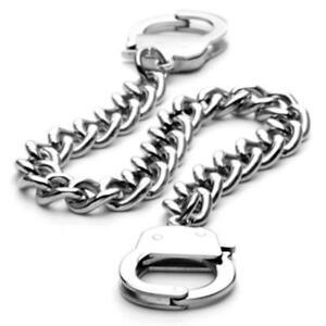 Coolbodyart Damen Herren Armband 316 L Stainless Steel Edelstahl in Handschellen