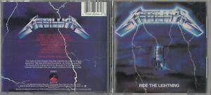 Metallica - Ride the Lightning  (CD 1987 Elektra (Label)) EARLY PRESS MPO FRANCE